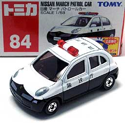 084 NISSAN MARCH PATROL CAR 001-01
