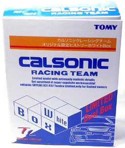 TL SET CALSONIC RACING TEAM WHIGT Box 01